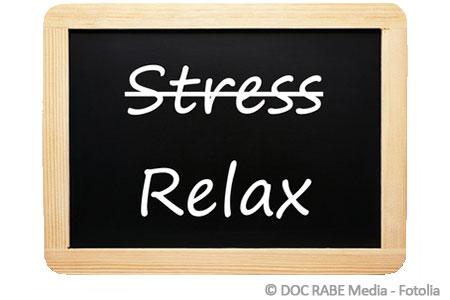 weniger stress gegen hautirritationen
